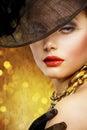 Mody portreta kobieta Zdjęcie Royalty Free