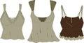 Mody s nakreśleń wierzchołków wektorowe kobiety Obraz Royalty Free