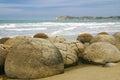 Moeraki Boulders at Koekohe Beach, Otago, New Zealand Royalty Free Stock Photo