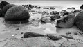 Moeraki Boulders, New Zealand Royalty Free Stock Photo