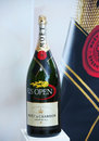 Moet and chandon champagne presented at the national tennis center during us open flushing ny august on august in flushing Royalty Free Stock Photo