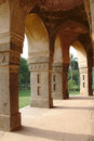 A moghul monument arches the mughal at lodhi garden new delhi india Royalty Free Stock Photography