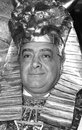 Mohamed al fayed owner of harrods department store attends a photo call wearing ancient egyptian costume on june in london england Royalty Free Stock Photo