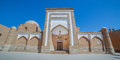 The Mohamed Amin Inox Madrasah in Khiva,  Uzbekistan. Royalty Free Stock Photo