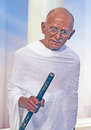 Mohandas Gandhi in Wax Stock Images