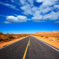 Mohave desert by route in california usa yucca valley Stock Image