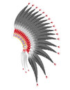 Mohawk hat of the american indians vector illustration isolated on white background Royalty Free Stock Photo