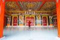 Moine entrance rumtek monastery fermant à clef des portes Images stock
