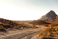 Mojave desert highway pretty empty in southern california usa Royalty Free Stock Photo