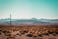 Mojave Desert near Route 66 in California Royalty Free Stock Photo