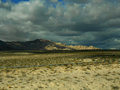 Mojave desert with a storm coming Royalty Free Stock Photo