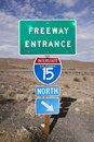 Mojave Freeway Stock Photography