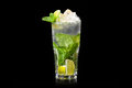 Mojito cocktail on black background Stock Images