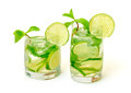 Mojito Cocktail in a Glass Beaker Royalty Free Stock Images