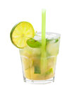 Mojito Cocktail isolated Royalty Free Stock Photo