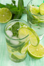 Mojito cold in a glass Royalty Free Stock Photo
