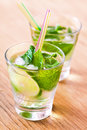 Mojito drink cocktail on the table Royalty Free Stock Photos