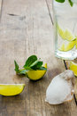 Mojito fresh on a old wooden table Stock Images