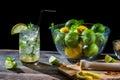 Mojito made of fresh citrus Royalty Free Stock Images