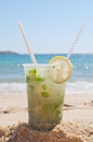 Mojito in the sand Royalty Free Stock Image