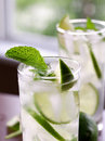 Mojitos shot with selective focus Stock Photography