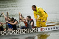 MOJO Rising Dragon Boat racing Stock Image