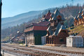 Mokra gora station in zlatibor west serbia Stock Photos