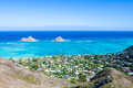 Mokulua islands oahu view of two hawaii Royalty Free Stock Photos