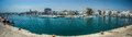 Mola di bari s harbor panoramic view of in the south of italy Stock Photos