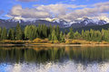 Molas lake and needle mountains weminuche wilderness colorado usa Stock Image