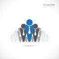 Molde do vetor do projeto do sinal de team partners friends Imagem de Stock Royalty Free