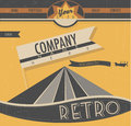 Molde do web site no estilo retro Imagens de Stock Royalty Free