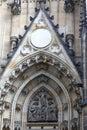 Molding of tympanum st vitus cathedra in prague czech republic Royalty Free Stock Photo