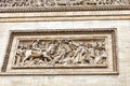 Moldings on the arc de triomphe paris Royalty Free Stock Photo