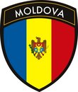 Moldova flag Royalty Free Stock Photo