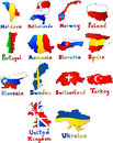 Moldova Netherlands Norway Poland Portugal Romania Royalty Free Stock Photo