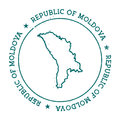 Moldova, Republic of vector map.