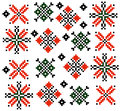 Moldovan Romanian ethnic ornament pattern set collection Vector Royalty Free Stock Photo