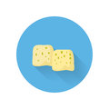 Moldy Cheese Flat Style Vector Icon