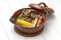 Mole de olla, mexican cuisine Royalty Free Stock Photo