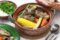 Mole de olla, mexican cuisine Royalty Free Stock Photo