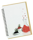 Molecular gastronomy painting blank notebook page Stock Photography