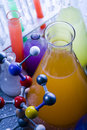 Molecular Model - Laboratory Stock Images
