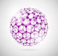 Molecular sphere Stock Photography