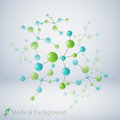 Molecular structure abstract background format Stock Image