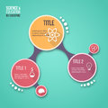 Molecule design vector infographic template for graphs, charts, diagrams and other infographics.