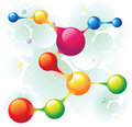 Molecule horizontal Royalty Free Stock Image
