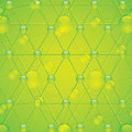 Molecule illustration green background Royalty Free Stock Image