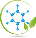 Molecule and leaves, chemistry and science laboratory