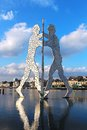 Molecule Man sculpture on the Spree river in Berlin Royalty Free Stock Photo